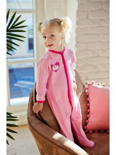 Комбинезон Lucky Child LOVE (арт. А6-101/розовый),размер 24 (74-80)