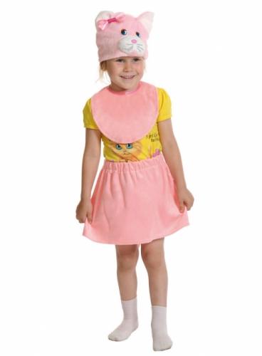 Карнавальный костюм Кошечка Розовая Лайт (юбка, маска, манишка) 3-5 лет