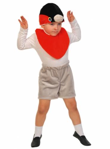 Карнавальный костюм Снегирь Лайт (манишка, шорты, маска) 3-5 лет