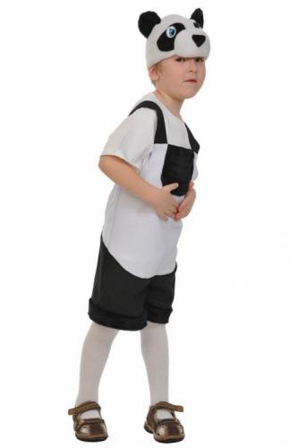 Карнавальный костюм Панда ткань-плюш (полукомбинезон, маска) 3-6 лет