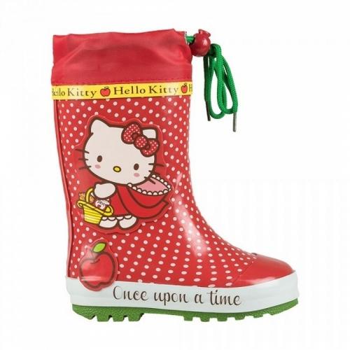 Сапоги велингтон Hello Kitty красный/зеленый, размер 33 (210 мм)