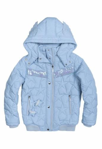 Куртка для девочек, размер 7, демисезонная, голубая Pelican GZWL484