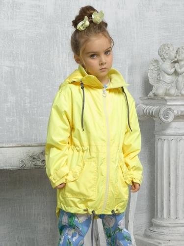 Ветровка для девочек, размер 5, желтая Pelican