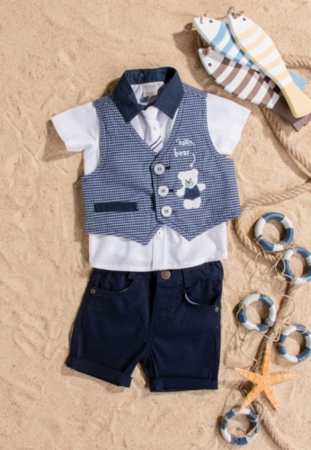 Костюм для мальчика, размер 18 месяцев, темно-синий, Bebus