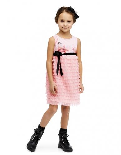 Платье для девочки, размер 5 (110-60) светло-розовое, Bellbimbo 190049