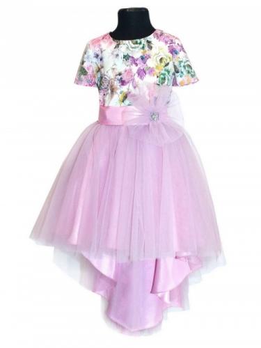 Нарядное платье для девочки Bon&Bon, сиреневое, 6-10 лет