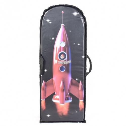 Ледянка Метиз прямоугольная, принт Ракета 100х40 см
