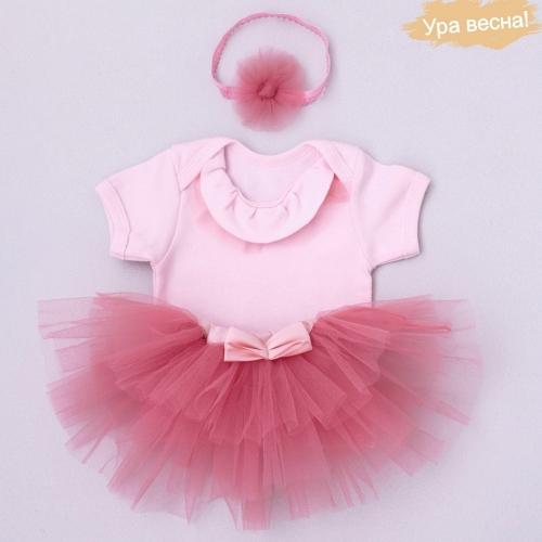 Комплект для девочки Малина весна-осень Крошкин дом р.24 (рост 74-80см), розовый