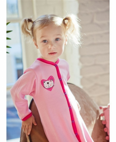 Комбинезон Lucky Child LOVE (арт. А6-103/розовый),размер 18 (56-62)