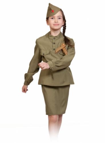 Карнавальный костюм Солдаточка, 7-9 лет