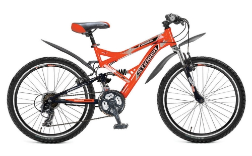 Велосипед Stinger Versus, оранжевый/черный, рама 24