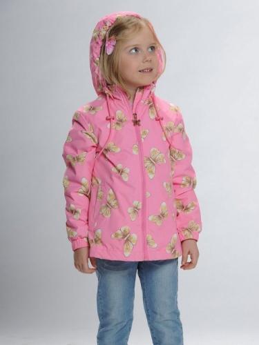 Ветровка для девочек, размер 3, розовая Pelican