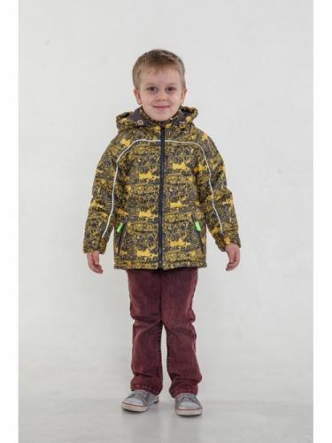 Куртка для мальчиков, размер 32, весна-осень, желтая Modus L, Деми