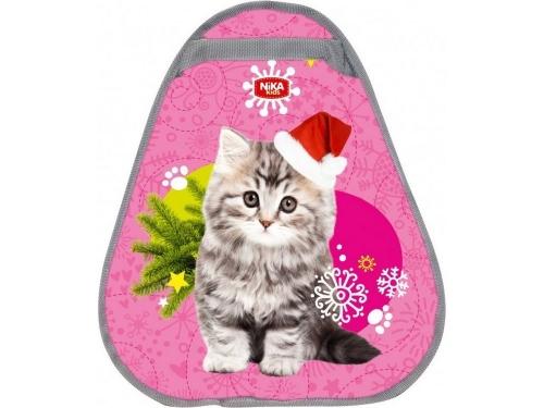 Ледянка Nika мягкая грушевидная 46х40 см рисунок Кот, цвет розовый