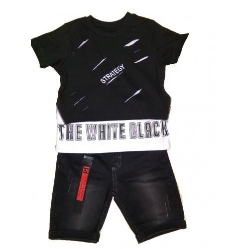 Костюм шорты с футболкой для мальчика, размер 5 лет, черный, Bebus