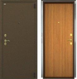 Стальная дверь Гардиан Фактор К медный антик/светлый орех правая 2 замка  880x2050 мм