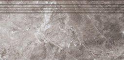 Ступени Kerranova Black&White полированный серый 29.4x60