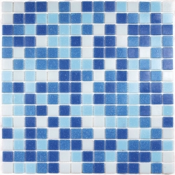 Мозаика Bonаparte Aqua 150 (на сетке) голубая глянцевая 32.7x32.7