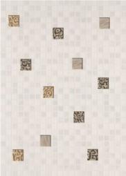 Декор Береза-керамика Квадро мозайка белый 25х35