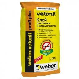 Клей для Weber.Vetonit Profi Plus для плитки и керамогранита для наружных и внутренних работ 25 кг