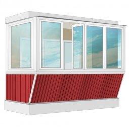 Остекление балкона ПВХ Rehau с выносом и отделкой вагонкой с утеплением 3.2 м Г-образное