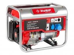 Генератор бензиновый ЗУБР ЗЭСБ-4500-ЭА 4000/4500 Вт ручной/электрический запуск
