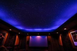 Натяжной потолок Франция многоуровневый звездное небо