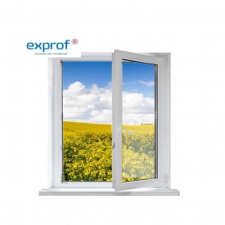 Окно ПВХ Exprof 600х600 мм одностворчатое П 1 стеклопакет