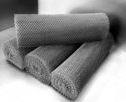 Сетка рабица d=1,4 мм, ячейка 15x15 мм, 1500x1000 мм, оцинкованная