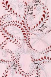 Декор Береза-керамика Елена каприз бордовый 20х30