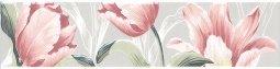 Бордюр Kerama Marazzi Норфолк Цветы STG\A270\11000T 30х7.2 серый