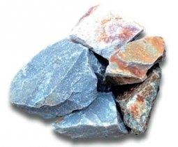 Камень для бани Атлант Камень Кварцит колотый в коробке 20 кг