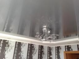 Натяжной потолок Франция многоуровневый металлик