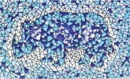 Декор Сокол Гауди D-697 орнамент глянцевый 33х20