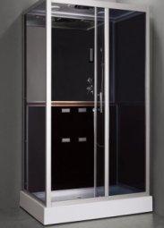Душевая кабина Aulica ALC-529Y-Black 1200х850х2150 мм черная