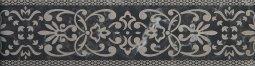 Бордюр Cracia Ceramica Bohemia Black Border 01 25x6,5