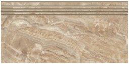 Ступени Kerranova Premium marble полированный светло-коричневый 29.4x60