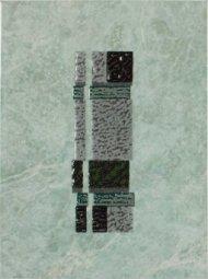 Декор Шаxтинская Плитка Каменный Цветок Зеленый 25x33