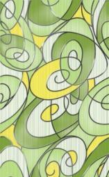 Вставка Golden Tile Рио зеленый К24321 250х400