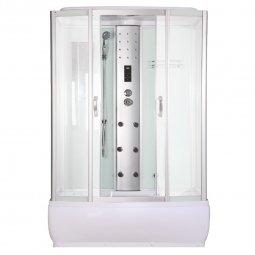 Душевая кабина Faro 540 145x85 белая с разборным экраном