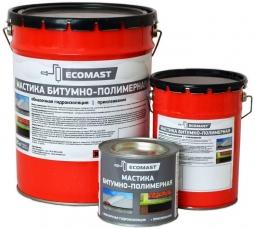 Мастика битумно-полимерная Ecomast металлическое ведро 2 л