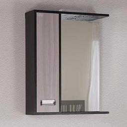 Шкаф-зеркало Onika Гамма 58.01 ясень со светильником левый
