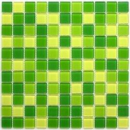 Мозаика Bonаparte Apple mix зеленая глянцевая 30x30