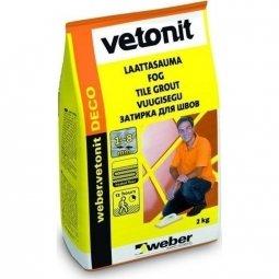 Затирка Weber.Vetonit Deco для швов до 8 мм сахара №24 (2кг)