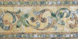 Бордюр Сокол Старый камень 328 пол глянцевый орнамент глянцевый 16.5х33
