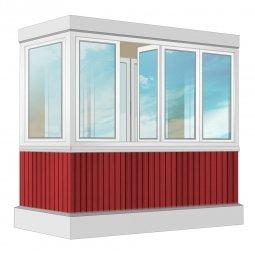Остекление балкона ПВХ Veka 2.4 м П-образное