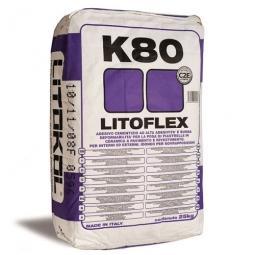 Клей Litokol LITOFLEX K80 морозостойкий для керамогранита, плитки из керамики и натурального камня 25 кг
