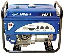 Генератор бензиновый Lifan 6GF-3 6000/6500 Вт ручной запуск