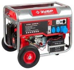 Генератор бензиновый ЗУБР ЗЭСБ-6200-ЭН 5700/6200 Вт ручной/электрический запуск