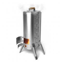 Печь-коптильня портативная Термофор Дуплет-2 Inox дровяная